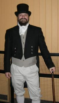 Tom Goodale in Regency costume